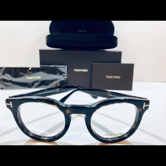 3f9ab3c2eb03 Tom Ford Eyeglasses Dark Havana Brown Round New 48